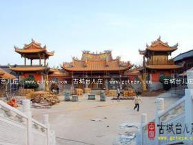 台儿庄:古城重建系列之-----天后宫工程 (图)