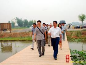 古城台儿庄:国外专家学者来运河湿地参观考察(图)