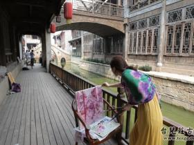 """中国美术学院""""红色之旅——写生台儿庄""""美术作品捐赠仪式(图)"""