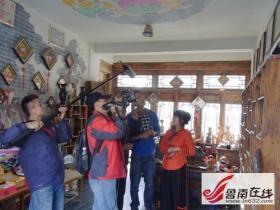 《旅游中国》----澳门莲花卫视来台儿庄古城拍片(图)