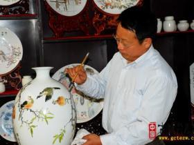 中华瑰宝 陶瓷绘画 烧制工艺 落户台儿庄芳慧堂(图)