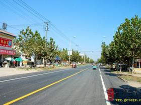 邳庄镇开工建设东顺路北段道路改造工程(图)