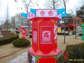 古城台儿庄:彩灯迎新春(图)