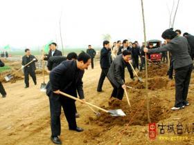 台儿庄区各级积极开展义务植树活动(图)