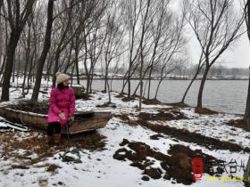 中国最美水乡台儿庄---涛沟河雪景(图)