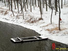摄影报道:中国最美水乡古城台儿庄之涛沟河湿地雪景(二)