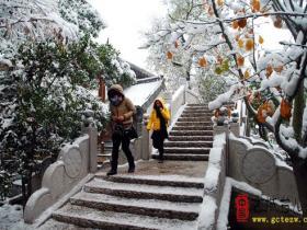 【摄影报道】冰雪中,台儿庄古城象科幻大片在上演(六)