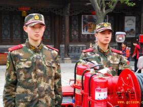 台儿庄古城消防保节日旅游安全(图)