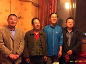 中国围棋界泰斗金同实先生来台儿庄古城(图)