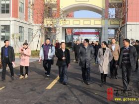 【图文】江西省宜春市上高县政协领导今天到区实验小学西校区视察