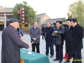 【图文】国家旅游局调研台儿庄古城保护与开发工作 韩耀东陪同