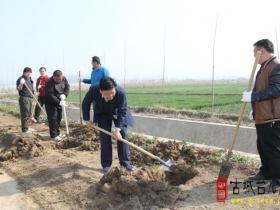 台儿庄区司法局开展春季植树节活动(图)