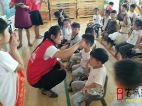 【爱眼日】护眼天使在行动——台儿庄颜颜团队走进校园献爱心(图)