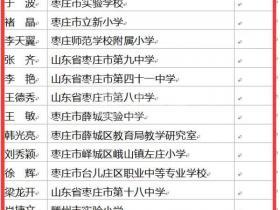 山东省特级教师名单出炉 枣庄14名(台儿庄1名)入选