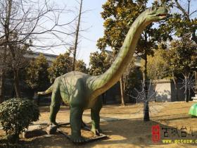 """【图文】台儿庄古城上演""""侏罗纪公园"""""""