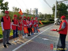 【图文】台儿庄区交通运输局文明志愿者上岗服务