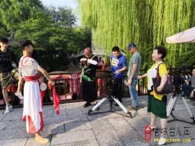 香港凤凰卫视来台儿庄拍摄《鲁南花鼓》