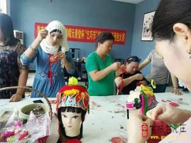 """""""乞巧节""""在台儿庄元善堂茶社举办绣荷包大赛"""