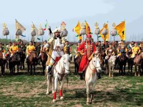 祥和庄园,大型实景马战表演《一代天骄》带您穿越古战场!