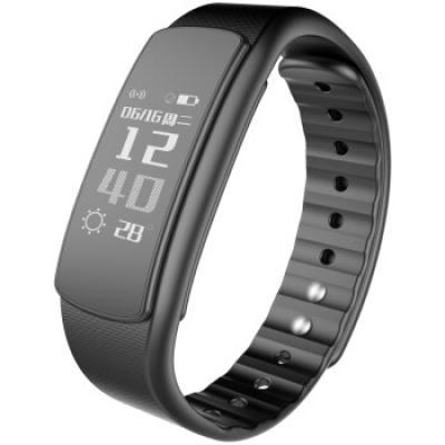 埃微i6HR手环 智能手表 心率手环 天气显示 来电消息显示 震动提醒 自动检测运动 微信运动 计步防水 黑色