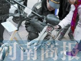 共享单车被私自喷漆
