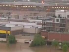 美中部多地洪水泛滥