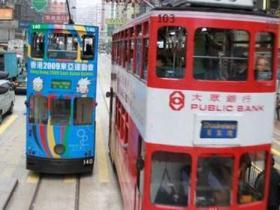 香港双层轻轨电车侧翻11人伤