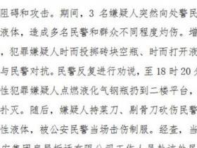 上海一户居民抗拆砍伤警察