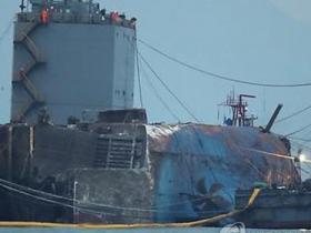 """韩""""世越号""""沉船搬运准备作业重启 将赴木浦港"""