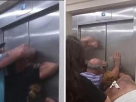 游客被困电梯.酒店救援不及时