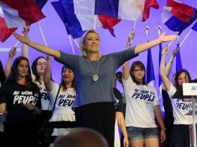 法国总统候选人参加电视辩论