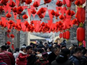 台儿庄古城春节大庙会美食打卡地:黄家大院满足你的味蕾