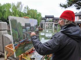 70年的中俄友谊 | 外国油画家眼中的台儿庄古城