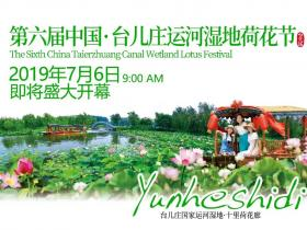 第六届中国·台儿庄运河国家湿地荷花节将于7月6日盛大开幕