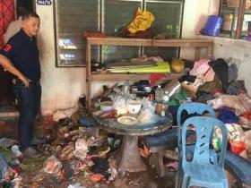 臭到报警 泰国一房间扫出2吨垃圾和大量爬行动物