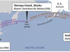 达美北京飞西雅图飞机故障 194名乘客降美军基地