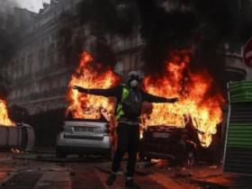 """法国抗议者掺杂暴力分子 """"趁火打劫""""发泄不满"""