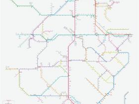 网友自制2019年1月最新版全国高铁路线图