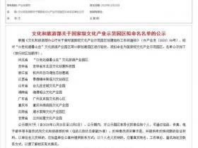 山东唯一!台儿庄古城文化产业园拟命名为国家级文化产业示范园区