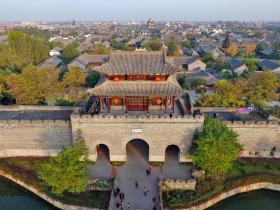 1′55″视频-从天空的视角飞越台儿庄古城 | 感受另一种独特魅力