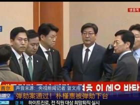 央视:韩国总统朴槿惠被弹劾下台