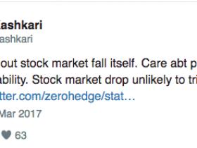 美联储Kashkari:股市下跌不太可能触发危机